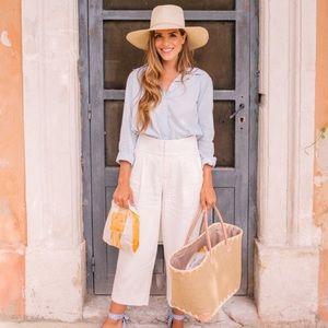 Joie Chambray Cotton Blouse Medium